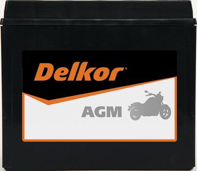 Delkor Motorcycle AGM MF DTX20HL-BS