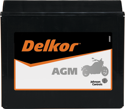 Delkor Motorcycle AGM MF DTX20HL-BS