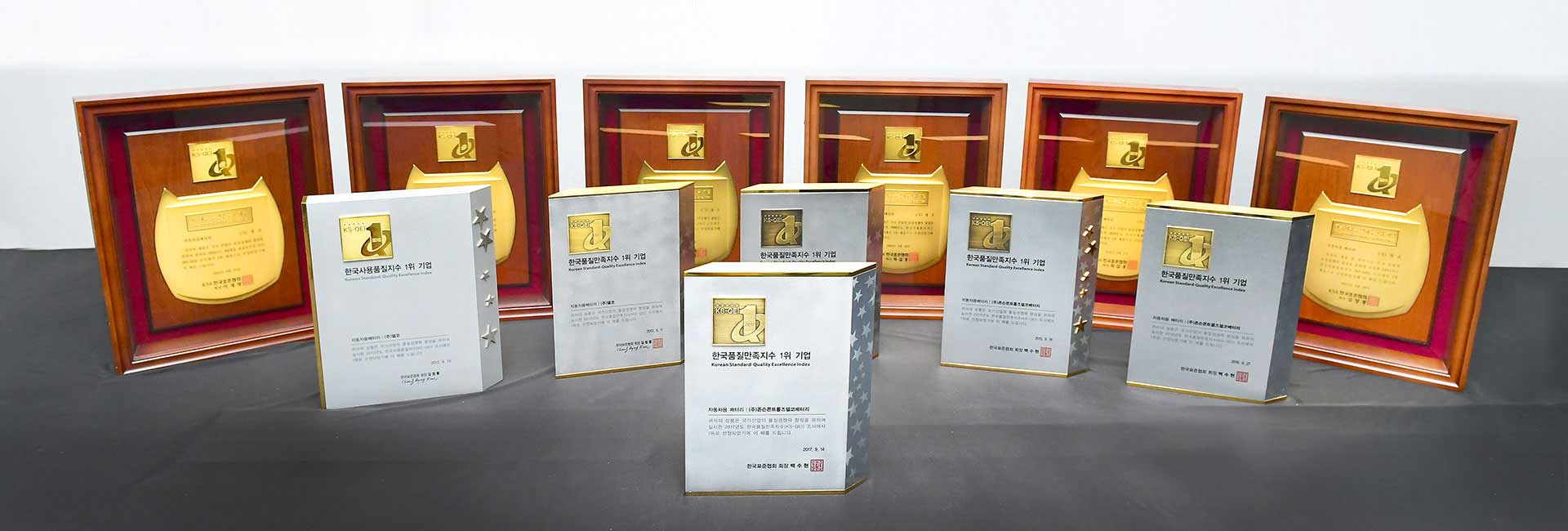 Delkor batteries have maintained the No 1 spot in the Korea Quality Excellent Award for 11 consecutive years.